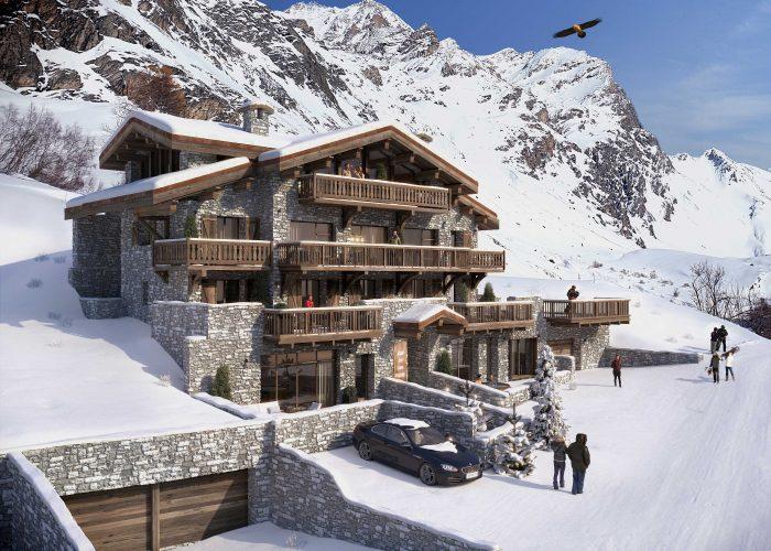 chalet de luxe; achat - vente le Fornet; alpes françaises; val d'Isère