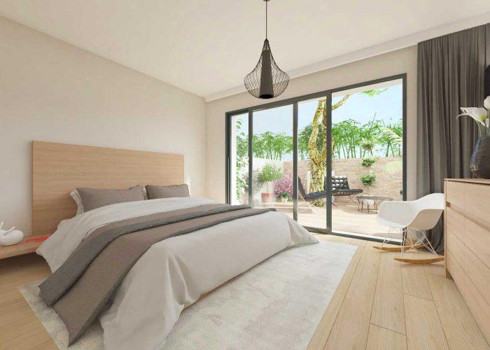 achat appartement grand standing Var; provence alpe cote d'azur; grande chambre; vue dégagée sur la mer