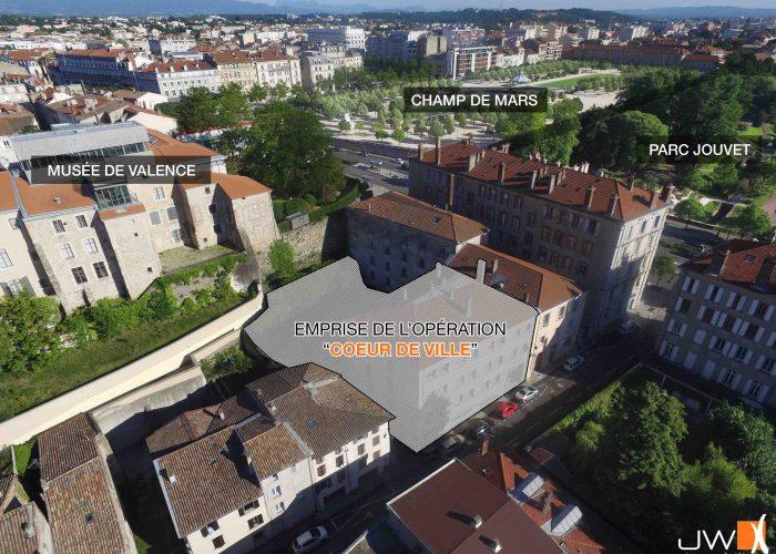 Localisation achat projet Cœur de ville Valence