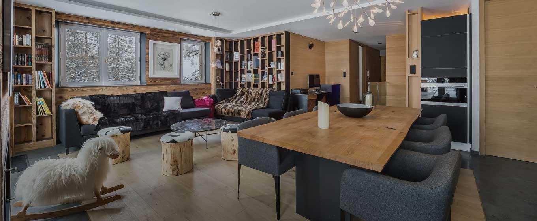 location appartement Le Centaurée; espace détente luxueux, cocooning chaleureux; cheminée avec insère; Alpes françaises