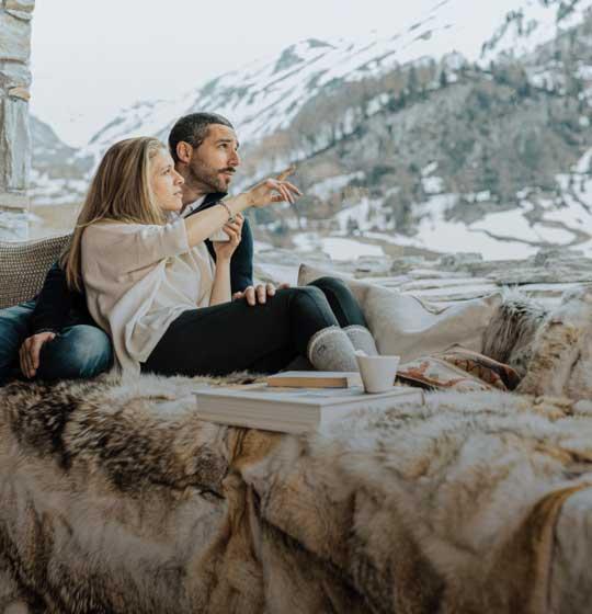 location chalet luxe Orca somptueux; vue panoramique sur les Alpes Française; cocooning, détente, espace, famille, tout compris