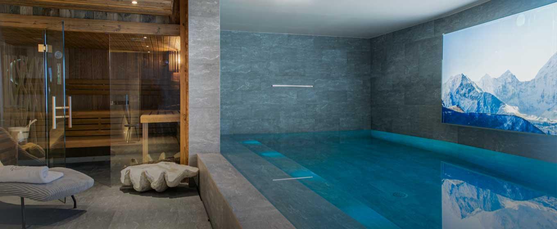 location Chalet luxe Orca, piscine intérieur; Val d'Isère; Alpes Françaises; grand standing