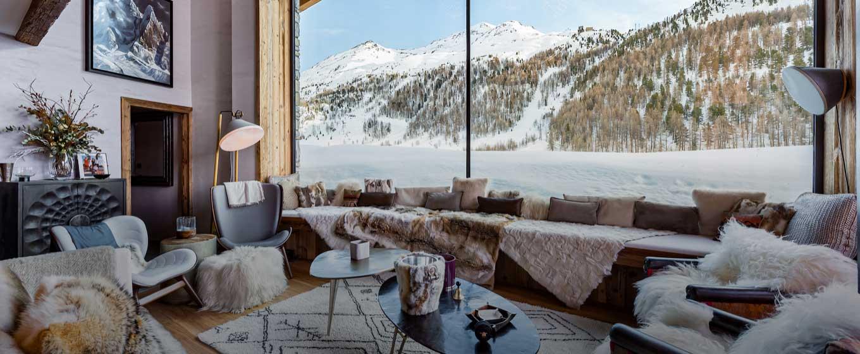 location chalet prestige; Orca&Orso; vue panoramique sur les Alpes Française