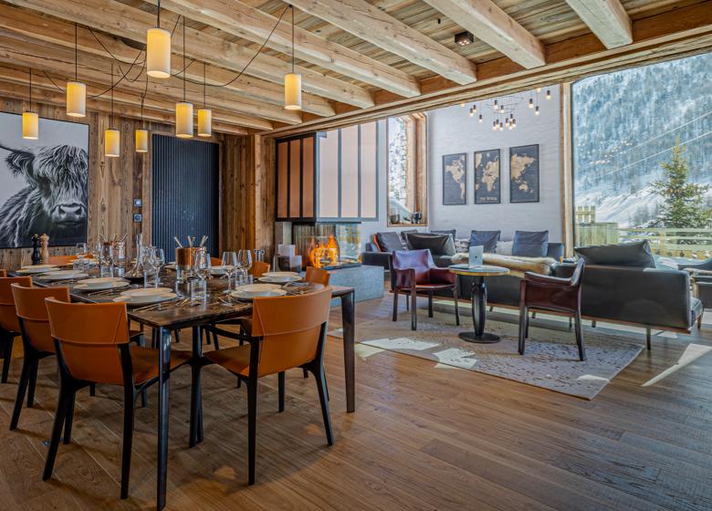 Chalet - Orso Salle à manger- luxe et prestige grande capacité de convives