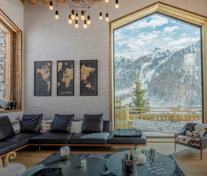location prestige Chalet Orso espace détente luxueux, cocooning chaleureux; Alpes françaises