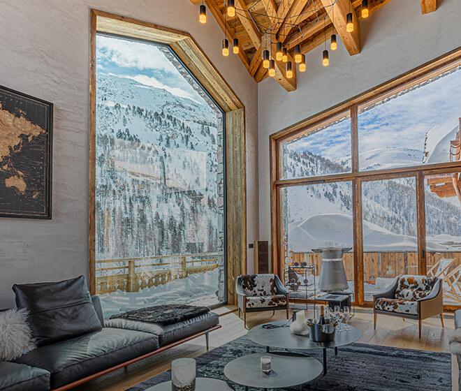 location chalet de luxe Orso vue panoramique Alpes française
